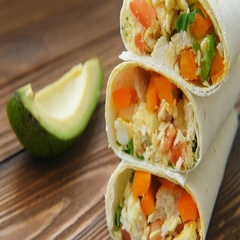 Burritos with chicken, cheese and vegetables Stock Footage
