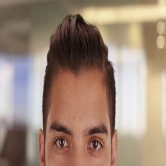 Close up of Hispanic man with cool undercut standing in office Stock Footage