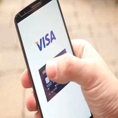 4K Credit Cards Brands Logo on Smartphone Visa Mastercard American Express Di Stock Footage