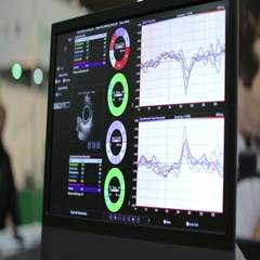 Uzi Organs on a Monitor Stock Footage
