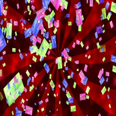 Abstract Loopable Background with nice flying credit cards Arkistovideo