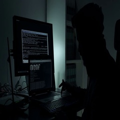 Hacker n the dark work on his strategy Stock Footage