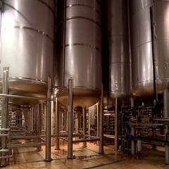Brewery in beer industry Stock Footage
