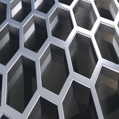 Abstract gray honeycomb/hexagon pattern on ceiling. Background or wallpaper. Stock Footage