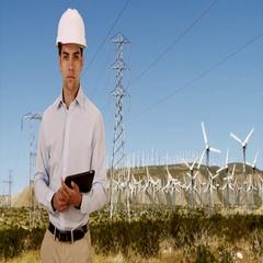 Hispanic millennial Engineer checking on wind turbines for renewable energy Stock Footage