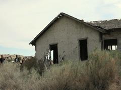 Pioneer home Porter Rockwell homestead Utah desert DCI 4K Stock Footage