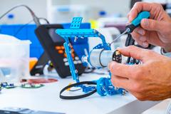 Robotics development closeup.  Kuvituskuvat