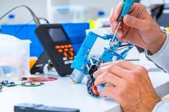 Robotics development closeup.  Stock Photos