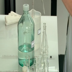Taking samples in a test tube in a laboratory Stock Footage
