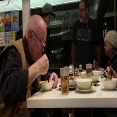Unidentified people have dinner inside Chinese restaurant Stock Footage