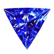 Sapphire Triangle Cut Over White Background Stock Illustration