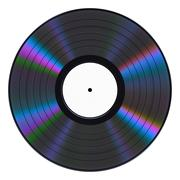 Vinyl Record On White Background Piirros