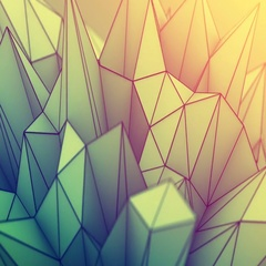 Low poly toned surface seamles loop futuristic 3D render Stock Footage