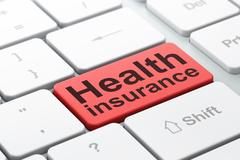 Insurance concept: Health Insurance on computer keyboard background Stock Illustration