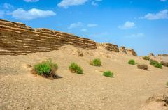 Chinese great wall in Gobi desert, Dunhuang, China Kuvituskuvat