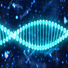 Abstract Loopable Background with rotating DNA Stock Footage