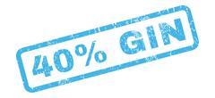 40 Percent Gin Rubber Stamp Stock Illustration