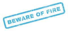 Beware Of Fire Rubber Stamp Stock Illustration