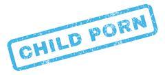 Child Porn Rubber Stamp Stock Illustration