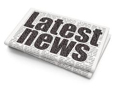 News concept: Latest News on Newspaper background Stock Illustration