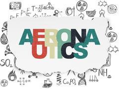 Science concept: Aeronautics on Torn Paper background Stock Illustration