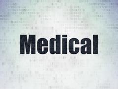 Healthcare concept: Medical on Digital Data Paper background Stock Illustration