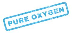 Pure Oxygen Rubber Stamp Stock Illustration