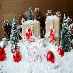 Christmas and New Year background with decorations, snow, fir trees, presents Stock Footage
