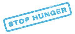 Stop Hunger Rubber Stamp Stock Illustration