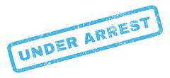 Under Arrest Rubber Stamp Stock Illustration