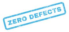 Zero Defects Rubber Stamp Stock Illustration
