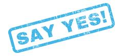 Say Yes! Rubber Stamp Stock Illustration