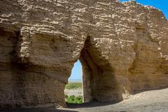 Ruins of Fangpa Castle at Yumen Pass, Dunhuang, Gansu province, China Stock Photos