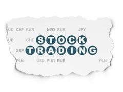 Business concept: Stock Trading on Torn Paper background Stock Illustration