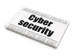 Safety concept: newspaper headline Cyber Security Stock Illustration