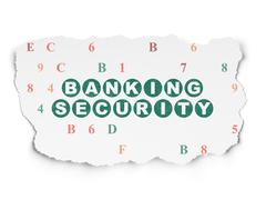 Privacy concept: Banking Security on Torn Paper background Stock Illustration