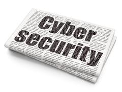 Privacy concept: Cyber Security on Newspaper background Piirros