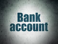 Currency concept: Bank Account on Digital Data Paper background Piirros