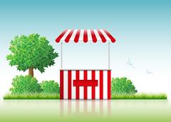 Stall in nature. Stock Illustration