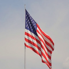 United States of America flag waving in the wind Stock Footage