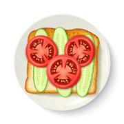 Healthy Breakfast Appetizing Top View Image Stock Illustration