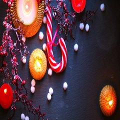 Christmas background with decorations over dark. New year. Stock Footage