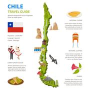 Chile Infographics Layout With Map Stock Illustration