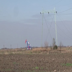 High-voltage lines Stock Footage