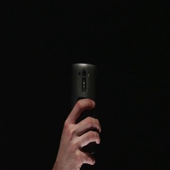 4K Smartphone Taking Picture With Flash ON Black Background Stock Footage