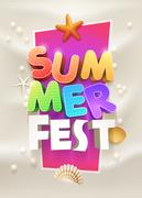 Summer Party Poster design Stock Illustration