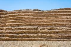 Chinese great wall detail in Gobi desert, Dunhuang, China Kuvituskuvat