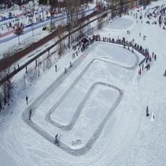 Winter Festival - Studded Bike Race  Stock Footage