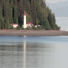 Vancouver Island Lighthouse Stock Footage
