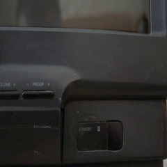The inclusion of the old vintage dusty TV. Close-up Stock Footage